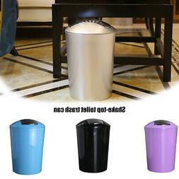 round trash can plastic rocking cover garbage