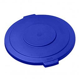 UltraSource Round Waste Container Lid, 20 gal, Blue