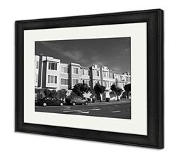 Ashley Framed Prints Row Of Houses, Wall Art Home Decoration