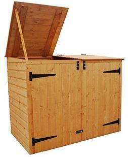 "Bosmere Rowlinson A042 Garbage Bin Storage Shed, 69"" x 53"" x"
