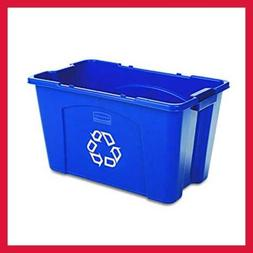 Rubbermaid Commercial Stackable Recycling Bin 18 Gal BLUE FG