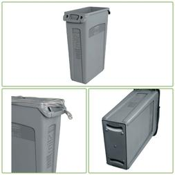 Rubbermaid SlimJim 23 Gal Grey Vented Trash Can Commercial G