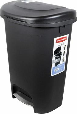 Rubbermaid Step-On Lid Trash Can for Home, Kitchen, and Bath