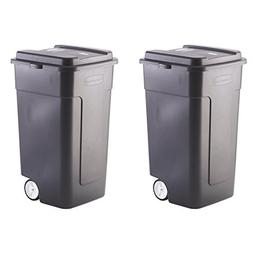 .Rubbermaid.. 50-Gallon Wheeled Roughneck Trashcan