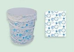 Sassy Sacks for Trash SS1003 - 3 blue Designer trash can lin