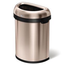 simplehuman Semi-Round Open Trash Can, Heavy-Gauge, 80 Liter