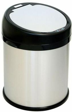 iTouchless 8 Gallon Sensor Touchless Trash Can Stainless Ste