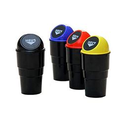 4PCS Set Car Garbage Trash Can Portable Home Office Auto Tra