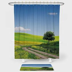 shower curtain floor mat combination