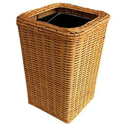 Simple Hand-woven Trash Can, Rectangle without Lidded Living