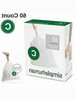 Simple Human Code C Trash Bags 60 Custom Fit Can Liners 10 -
