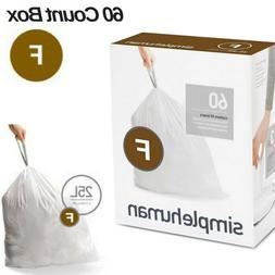 Simple Human Code F Drawstring Trash Bags Can Liners Custom