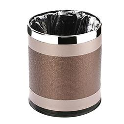 Simple stainless steel double trash can Creative office Wast