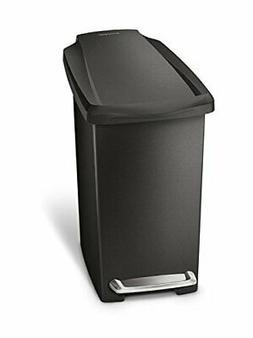 simplehuman 10 Liter / 2.6 Gallon Compact Slim Bathroom or O