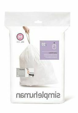 simplehuman code m trash bags 20 extra