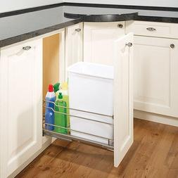 Single Cabinet-Mounted Pull-Out Trash Bin Frame