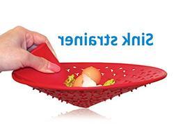Premium 10 Inch Sink Drain Strainer - Remove Food Waste with