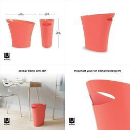 Umbra Skinny, Coral Sleek  Stylish Bathroom Trash, Small Gar