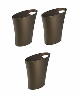 Umbra Skinny Waste Can, Bronze, 3-Pack