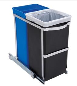 Sliding Trash Can Under Counter Recycling Kitchen Garbage Pu
