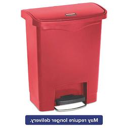 Rubbermaid Commercial Slim Jim Front Step-On Trash Can, Plas