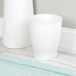 mDesign Slim Plastic Small Round Trash Can Wastebasket Garba