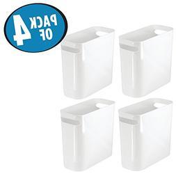slim rectangular trash can wastebasket