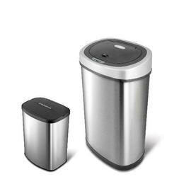 Nine Stars 13.2 Gallon Slim 2.1 Gallon Trash Can Combo Set