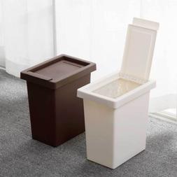 Slim Trash Can Garbage Rubbish Bin Wastebasket W Lid Cover H