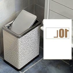 Dw&accdb Slim Trash can Swing cover,Quiet Simplicity Decorat