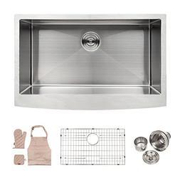 Lordear Apron Front Kitchen Sink 33 x 21 x 10 inch Single Bo