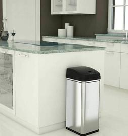 Small Automatic Trash Can Touchless 13g Lid Kitchen Garbage