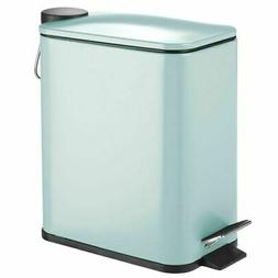 mDesign Small Step Trash Can, Garbage Bin, Removable Liner B