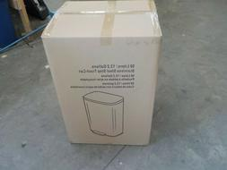 iTouchless SoftStep 13.2 Gallon Step Trash Can - Stainless S