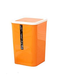 Square Kitchen Plastic Trash Can/Bathroom Swing Lid Trash Ca