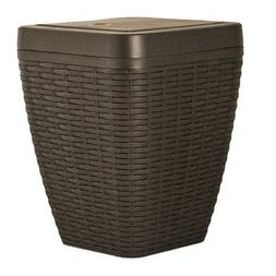 1.63-Gal Square Trash Can Color: Brown