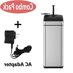 iTouchless Squeeze Trash Compactor Garbage Can with Sensor L