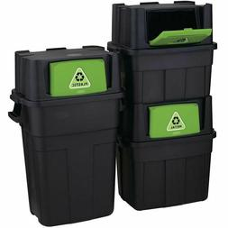 Stackable Indoor Recycling Garbage Bin Waste Trash Can BLANK
