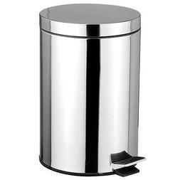 Stainless Steel 5 Liter Foot Pedal Kitchen Office Waste Bin