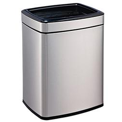 Stainless steel garbage can,Square double barrel trash cans