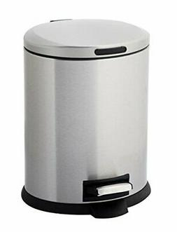 Home Zone Stainless Steel Kitchen Trash Can with Oval |Silve