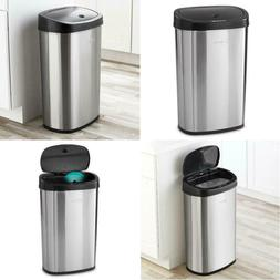 Stainless Steel Motion Sensor Activated Kitchen Trash Can -