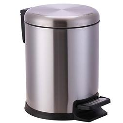 Xena 5 Liter Stainless Steel Office Bin Bathroom trash Can S