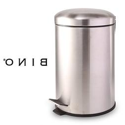 BINO Stainless Steel 3 Gallon/12 Liter Round Step Trash Can,