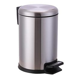 Xena 6 Liter Small Stainless Steel Round Step Trash Can Offi