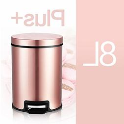 Stainless Steel Round Step Trash can Garbage bin Living Room