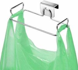Large Stainless Steel Trash Bag Holder for Kitchen Cabinets