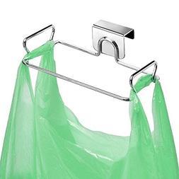 Stainless Steel Trash Bag Holder for Kitchen Cabinets Doors