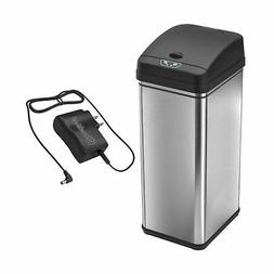 iTouchless Sensor Trash Can with AC Adapter Battery-Free Aut