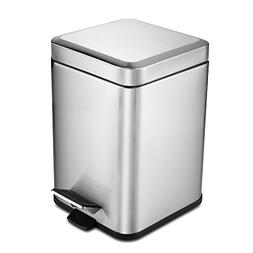 Vookoon Stainless Steel Trash Can, 6 Liter/ 1.6 Gallon Step